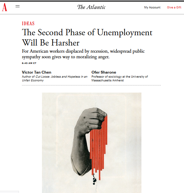 Atlantic - The Second Phase of Unemployment Will Be Harsher